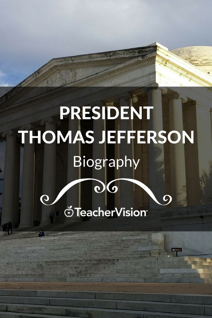 A biography of Thomas Jefferson. (Grades K-12 - useful for Presidents' Day lesson planning.)