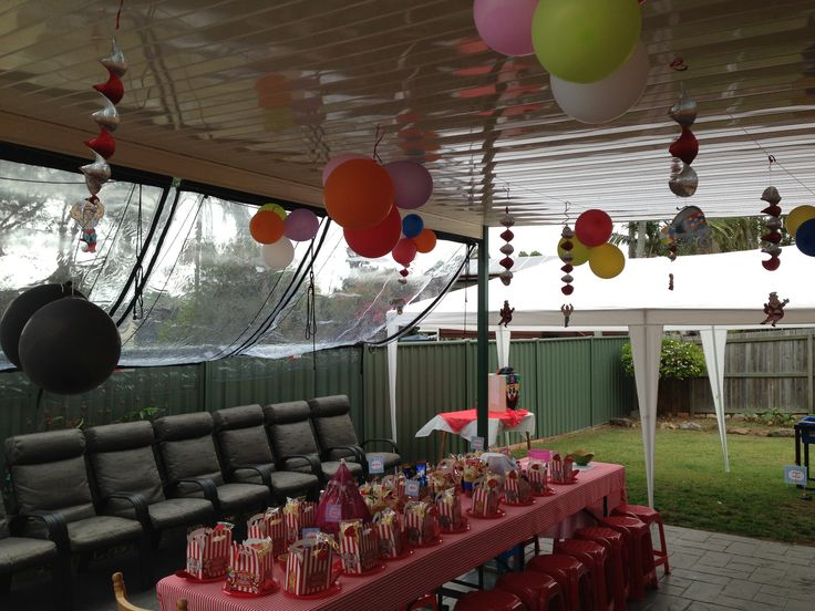 Backyard Circus Carnival Themed Party