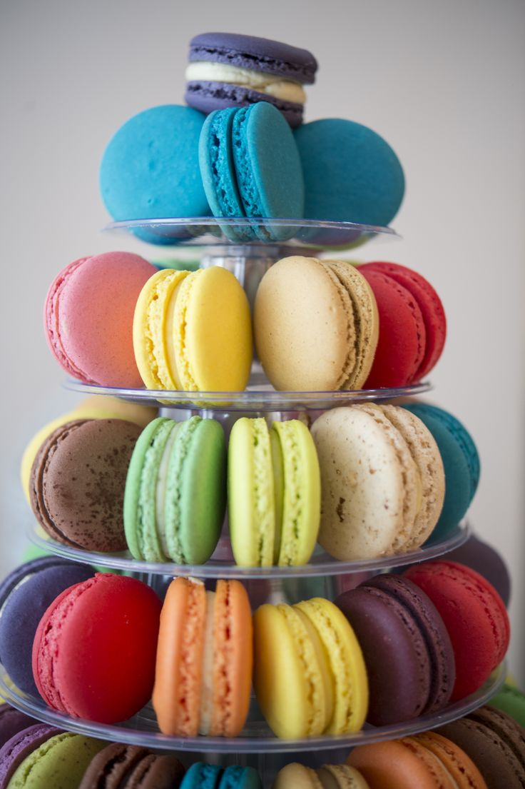 Details from a macarons pyramid - Boheme delices francaises