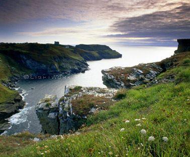 Barras Nose, Tintagel Head, North Cornwall, England, UK.    -the work of Philip Fenton