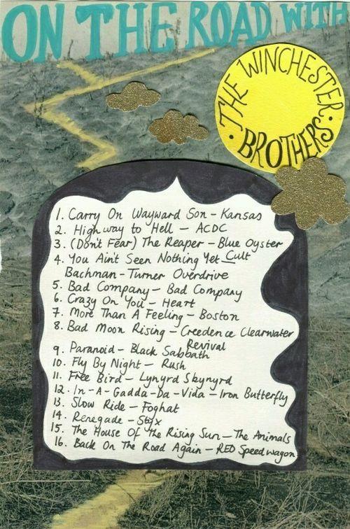 Supernatural music. Song list.