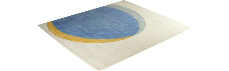 Ellipse blauw en geel tapijt (www.habitat.fr)