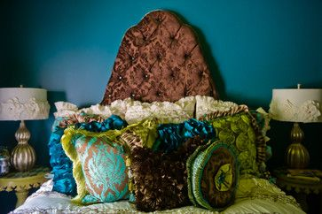 Tween Bedroom - Custom Pillows & Bedding by Ashley Taylor Home - Turquoise & Chartreuse Green Bedding