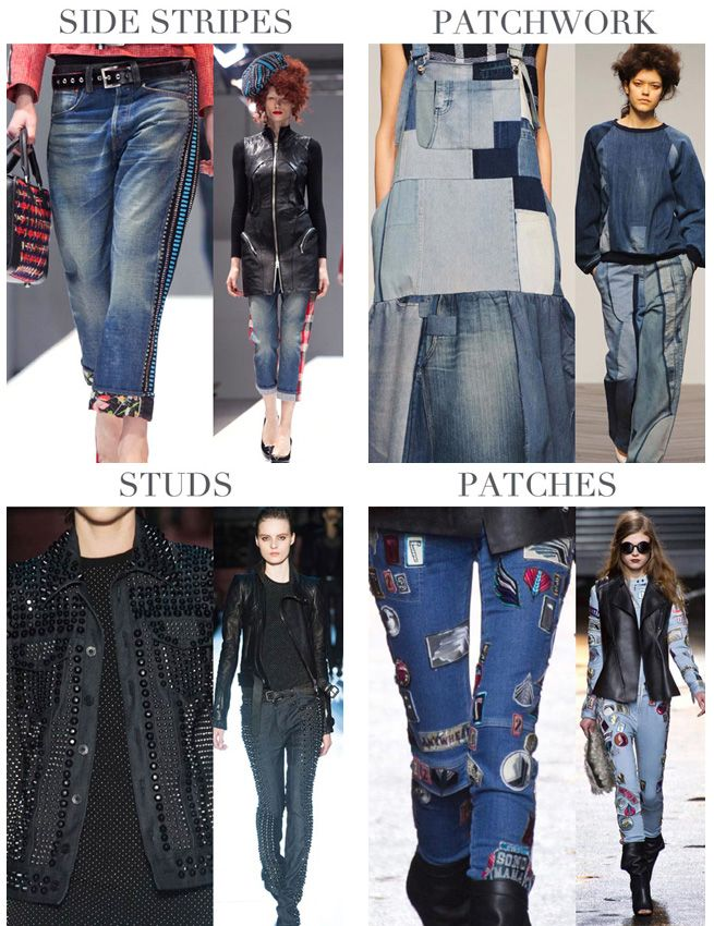 Fashion Trend denim jeans Fall Winter 2014 - 2015 --- Trend moda donna jeans collezioni Autunno Inverno 2014 - 2015