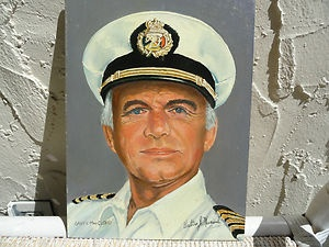 Art Walter J Musial Oil Painting Portrait Love Boat Captain Gavin MacLeod | eBay