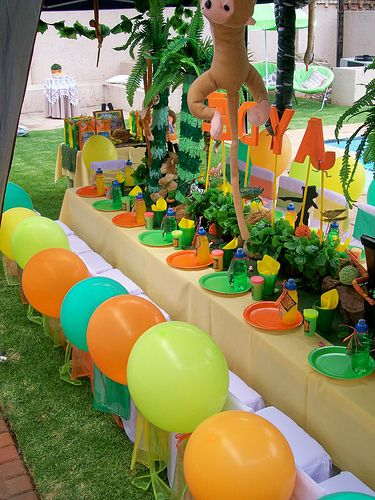 54 best images about jungle party decoration ideas on for Animal party decoration