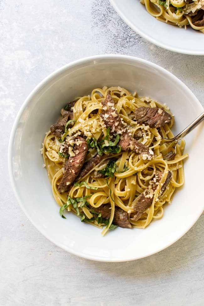 Steak Carbonara Recipe Pasta Dinner Recipes Thin Steak