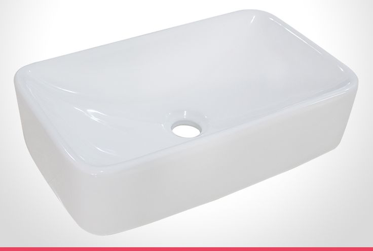 Rumba vitreous china rectangle bathroom basin
