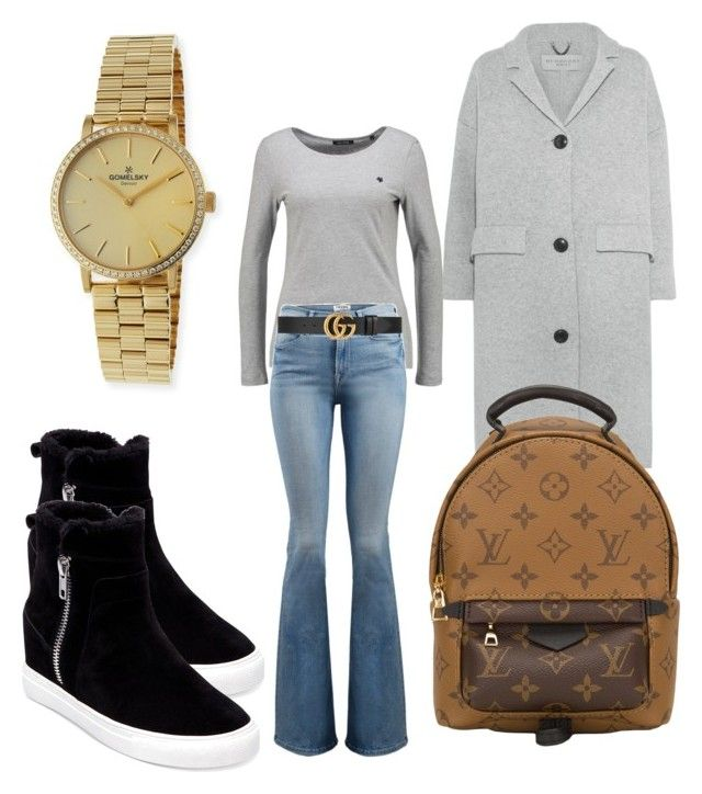 """""""Wednesday"""" by madisonkiss on Polyvore featuring Burberry, Frame, Louis Vuitton, Gucci, Steven by Steve Madden and Gomelsky"""