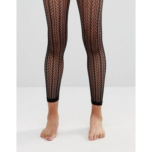 ASOS Pelerine Footless Tights (105 NOK) ❤ liked on Polyvore featuring intimates, hosiery, tights, black, nylon stockings, footless hosiery, asos tights, nylon hosiery and asos