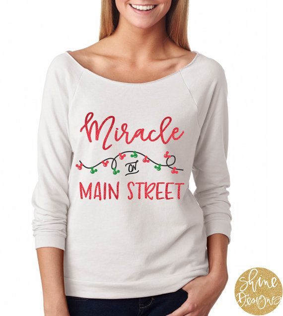 Miracle On Main Street  Disney Glitter Shirt  by ShineDesignsTees