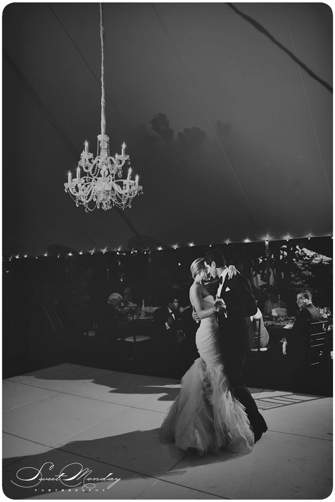 chandeliers in tented wedding reception, event design by gracie lou events Photo by Sweet Monday Photography www.sweetmondayphotography.com