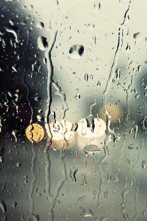 Rain on the window.