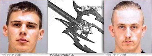 Battle Axe| A Kearns, Utah teenager required 300 stitches,..after being attached with a 4 bladed battle axe ...