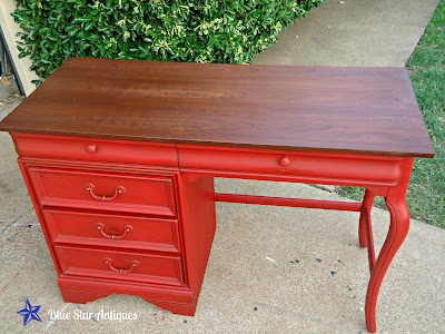 Blue Star Antiques: Red Desk Envy