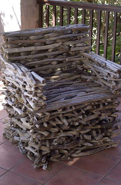 Schwemmholz Stuhl Driftwood chair