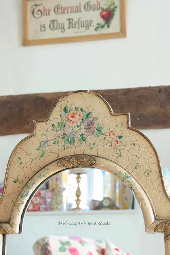 Vintage Home Shop   Beautiful 1930s Hand Painted Floral Mirror  www vintage  home. 70 best Vintage Painted Furniture images on Pinterest   Vintage