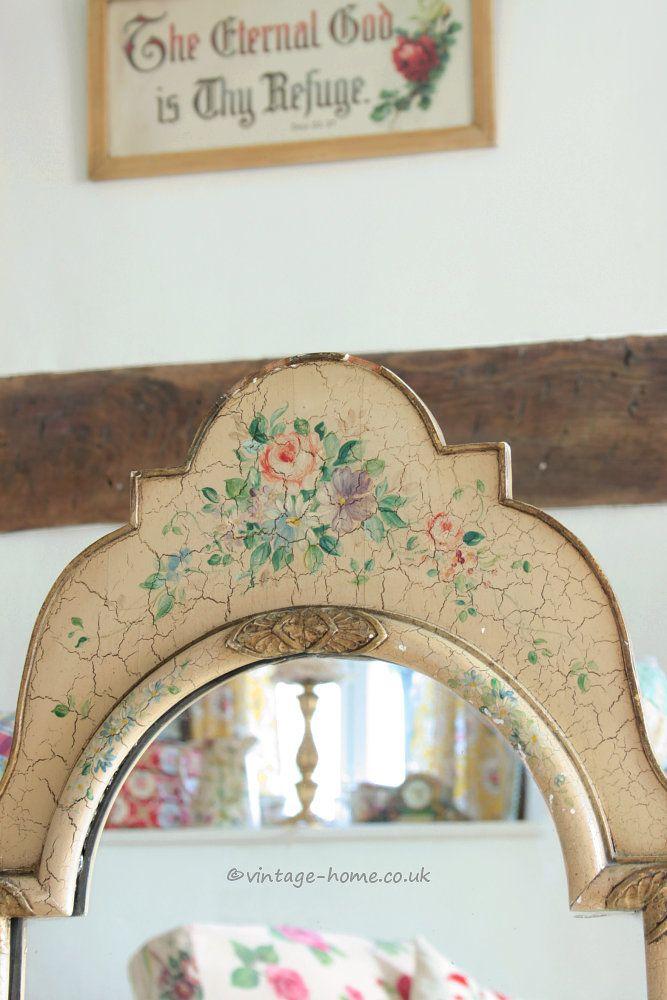 Vintage Home Shop   Beautiful 1930s Hand Painted Floral Mirror  www vintage  home. 70 best Vintage Painted Furniture images on Pinterest   Vintage