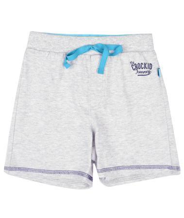 Crockid серый меланж  — 500р. ---------------------------------- Шорты Crockid - летняя одежда из однотонного трикотажа для мальчика. Пояс с эластичной тесьмой сделан из кашкорсе. Ярко-бирюзовые декоративные детали: киперная лента, внутренняя часть пояса. По низу штанин - отделочная контрастная строчка темно-синего цве...