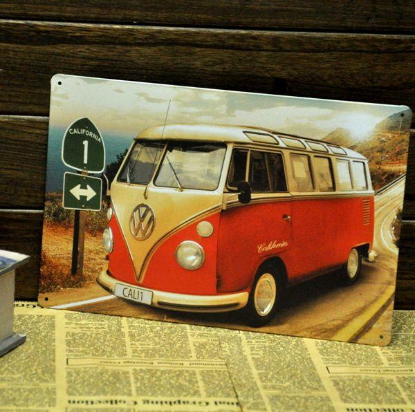 Купить [ Mike86 ] VW bus винтаж металл стены декор бар металл картины B 131 заказ смешивания 20 * 30 см бесплатная доставкаи другие товары категории Металлические ремеслав магазине Mike86 Tin Signs StoreнаAliExpress. исскуство декора и картинная роспись