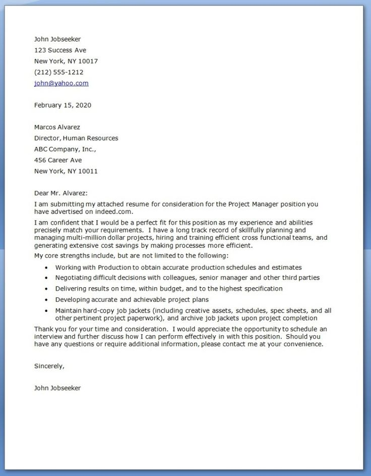 cover letters google search project manager cover letterresume