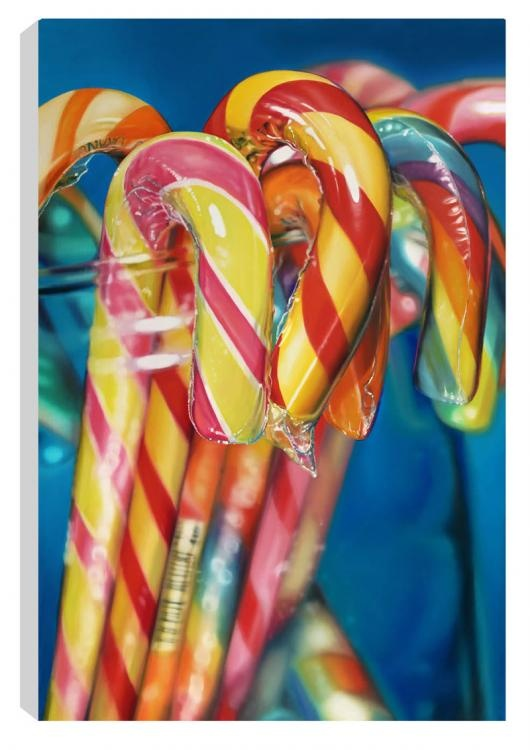 Candy Canes by Sarah Graham. Signed Limited Edition available from www.artworx.co.uk