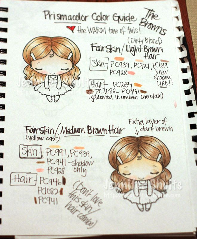 Prismacolor Skin/Hair Guide Book » deconstructing jen | handmade cards, sketches and tutorials