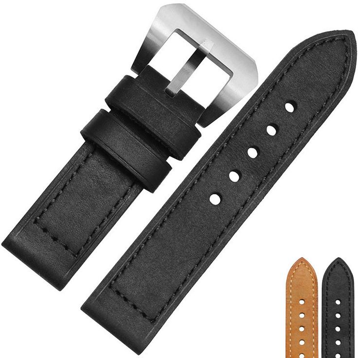 >> Click to Buy << Hot Sale 24 mm/26 mm Mens Calfskin Leather Watchband Of Stainless Steel Buckle Suitable for Panerai Watches Free Shipping #Affiliate