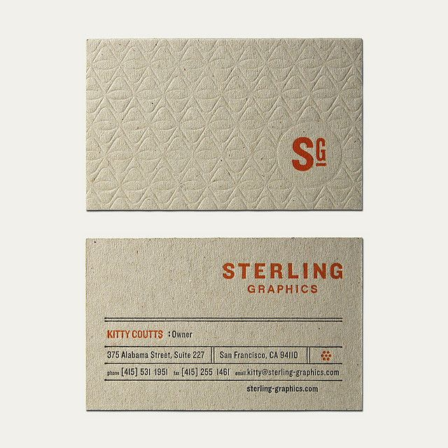 Sterling Graphics Business Card by Cranky Pressman | Business Card Design