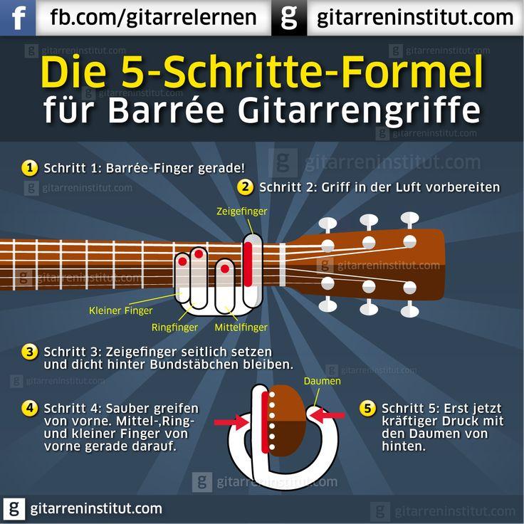 Barrée Griffe meistern in 5 einfachen Schritten dank Georg Norberg http://www.online-gitarrenkurs.de