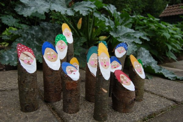 Wooden gnomes, hahah :) too cute