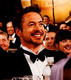 Robert Downey Jr sexy smile (gif)