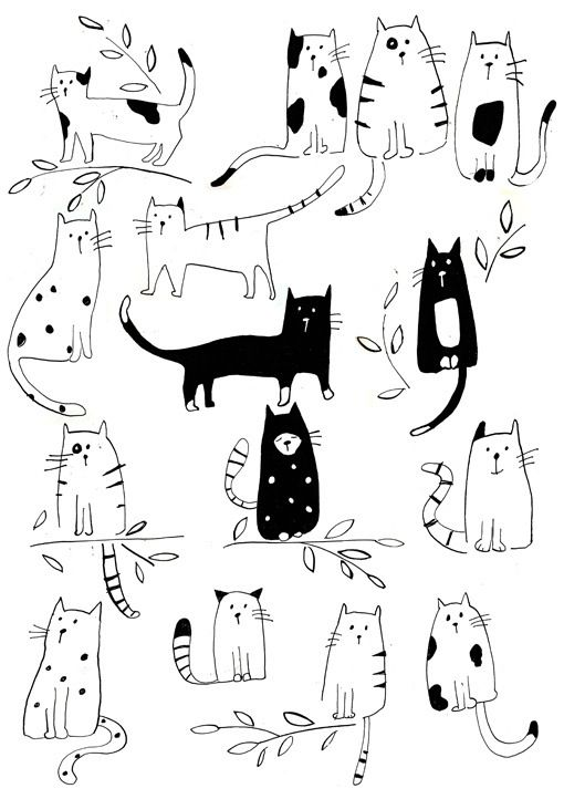 illustrations cats//