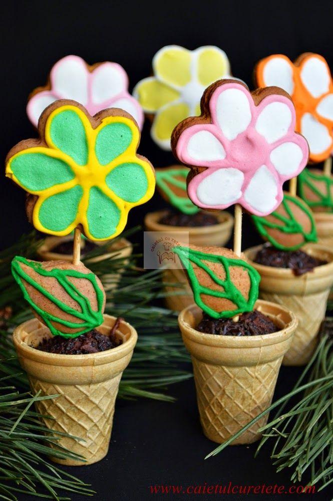 Cum facem un ghiveci cu flori din turta dulce? | CAIETUL CU RETETE