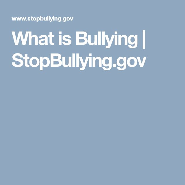 What is Bullying | StopBullying.gov