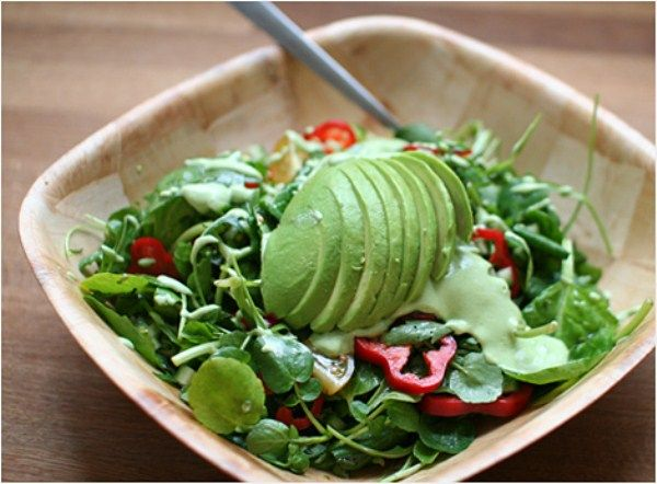 141 best raw food recipes savory images on pinterest healthy raw food recipes summer green salad with avocado cashew tarragon dressing forumfinder Choice Image