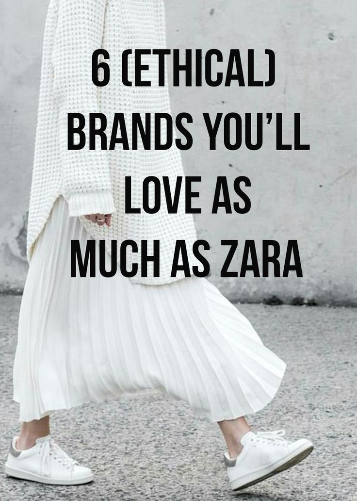 Who knows, maybe you'll even end up loving these ethical brands MORE than Zara!
