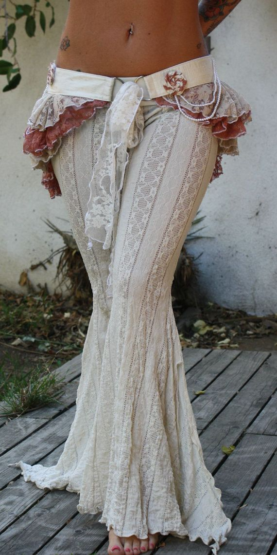 Circus Ruffle Bustle Gypsy Wedding by wickedharem on Etsy I kinda like these...lol...like beach pants?