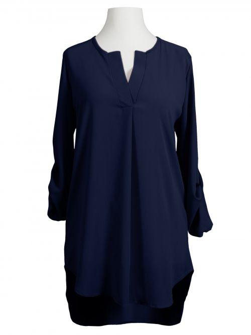 Damen Chiffon Bluse Tunikastil, blau von Diana bei www.meinkleidchen.de