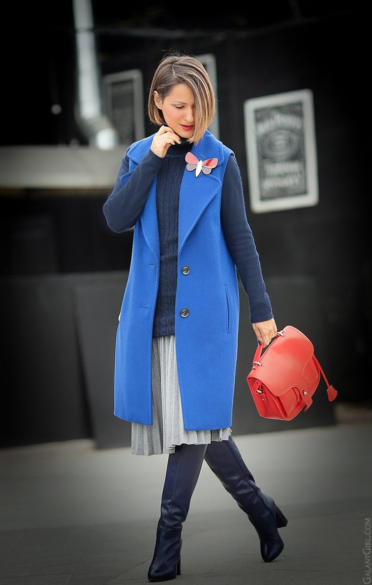 sleeveless coat and Opening Ceremony bag on GalantGirl.com