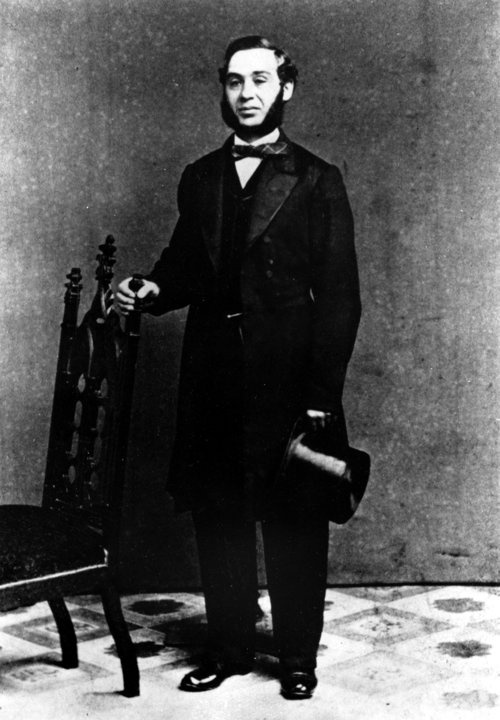 May 20, 1873, Levis patent for blue jeans Bavarian-born Levi Strauss headed to San Francisco in 1850. Lured by the Gold Rush, he hoped to strike it rich. He did — in denim, not gold. The savvy businessman began adding rivets to sturdy canvas for the 49ers to wear as work pants. He switched to a French material, genes, which Strauss dubbed jeans. The rest is history. (AP Photo)