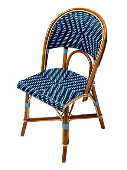 I know this french cafe chair doesn't look like much here, but they are beautiful as casual kitchen table chairs. How fun! These come in many different pattern weaves, styles, and colors. The best part is the are easy to clean if you have messy kids or a messy husband...