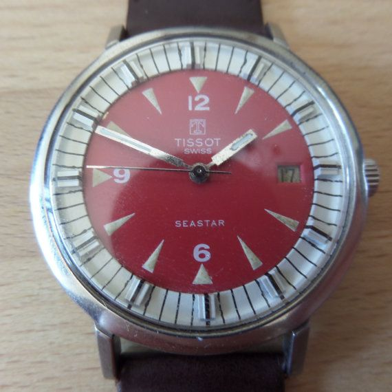 TISSOT SEASTAR - 1972 Vintage Guaranteed Genuine, Swiss made Gents/Mens mehanical mechainsim wrist watch