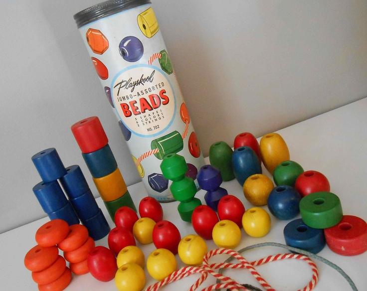 Playskool Jumbo Beads Original Box CanisterRemember, Speelgoed Vans, Originals Boxes, Jumbo Beads, Childhood Memories, Boxes Canisters, Beads Originals, Playskool Jumbo, Memories Lane