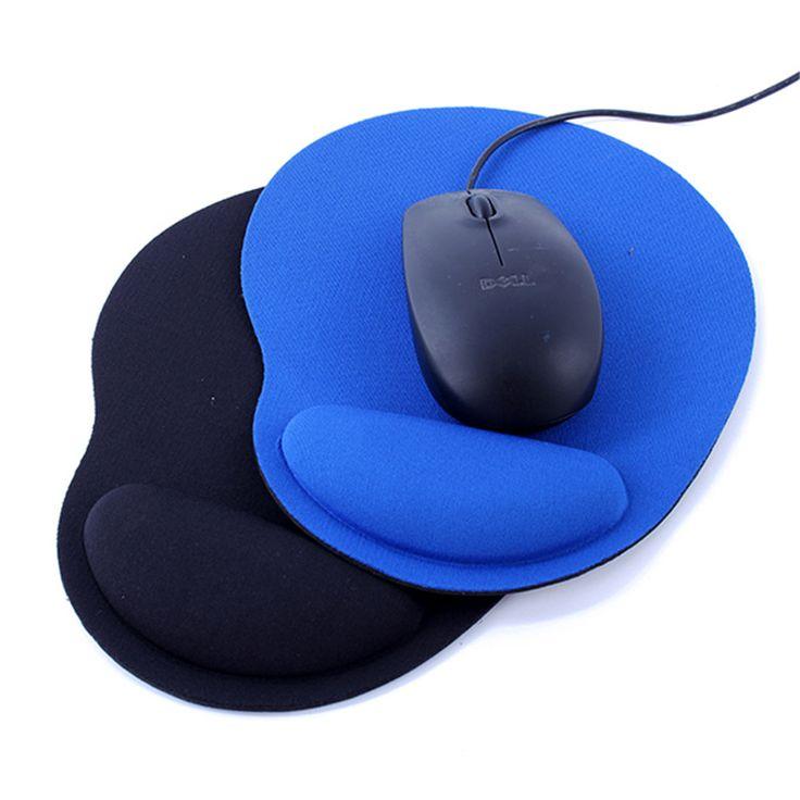 Nueva Muñeca Proteger Trackball Óptico PC Espesar Apoyo Alfombrilla de Ratón de La Muñeca Comfort Mouse Pad Mat Cojín de Ratones de Juego 2 Colores