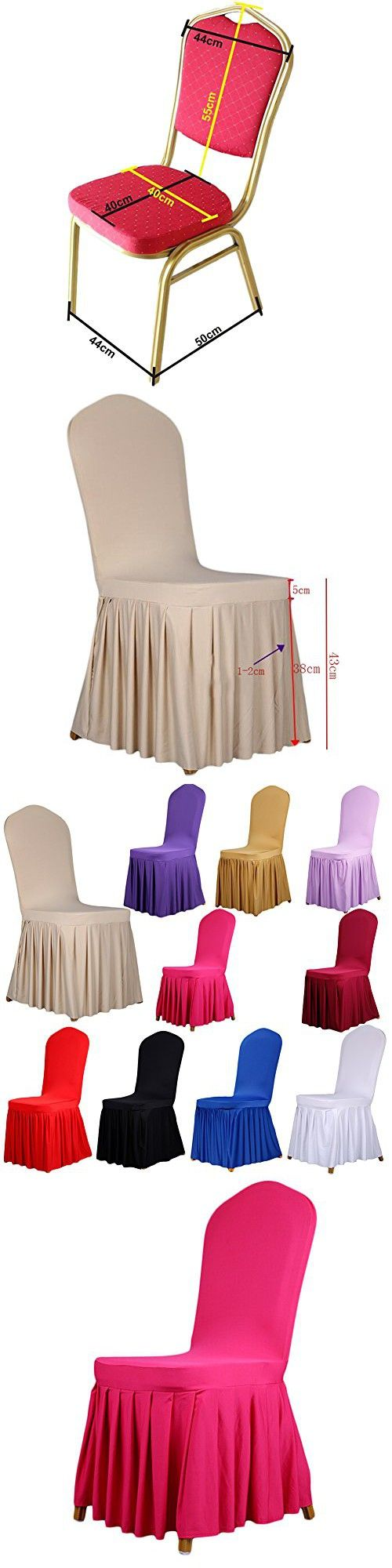 Folding chair covers wholesale under 1 - 1 X Soulfeel Long Stretch Spandex Dining Chair Cover Protectors Super Fit Banquet Chair Seat
