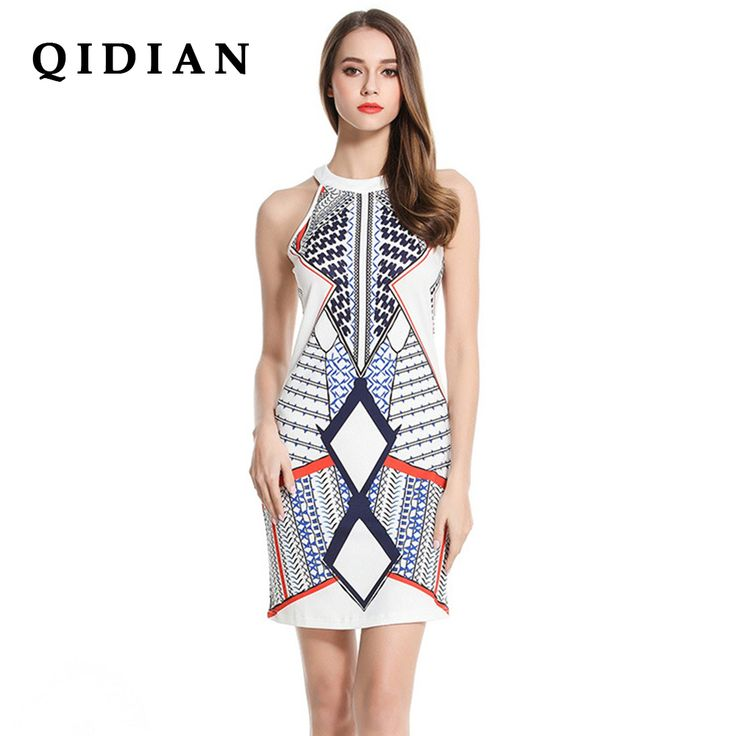 Cheap dress for, Buy Quality dress for women directly from China shift dress Suppliers:  QI DIAN  Casual Dresses For Women Summer Bobo Dress Ladies Multicolor Floral Round Neck Sleeveless Cut Out  Shift Dress Y-59
