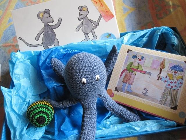 Gave til åbent hus hos Dorte Bisgaard Privatpraktiserende tale-hørepædagog i Aalborg #gift #crochet #paperdoll #gallerigavlen #clown