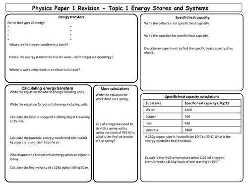 New AQA physics revision topics 1-4