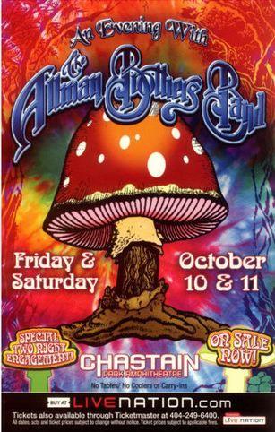 Allman Bros. Band concert poster
